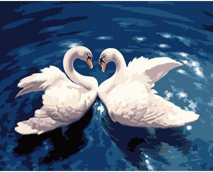 Картина по номерам Лебединый танец