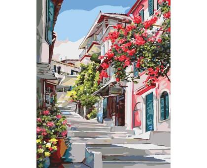 Картина по номерам Греческая улочка