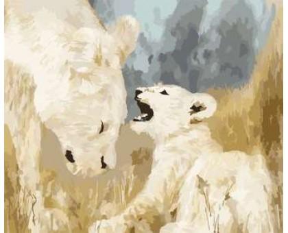 Картина по номерам Белые львы
