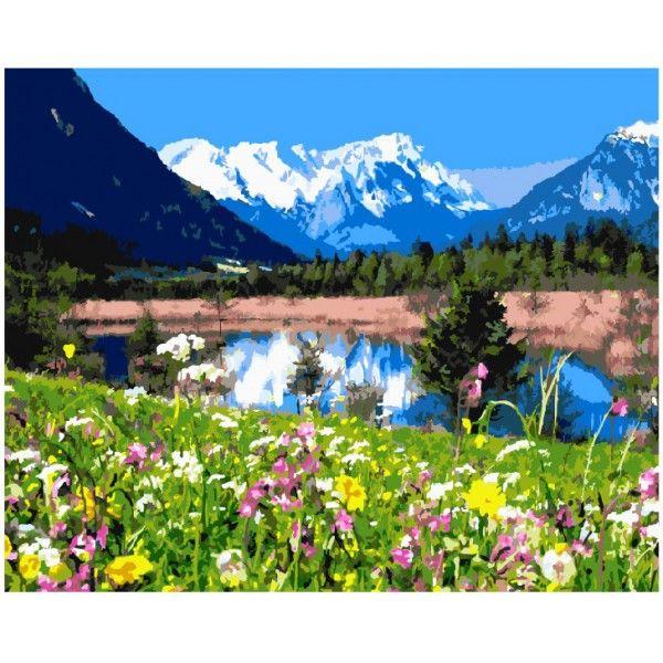 Картина по номерам Альпийские луга