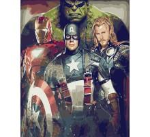 Картина по номерам Мстители