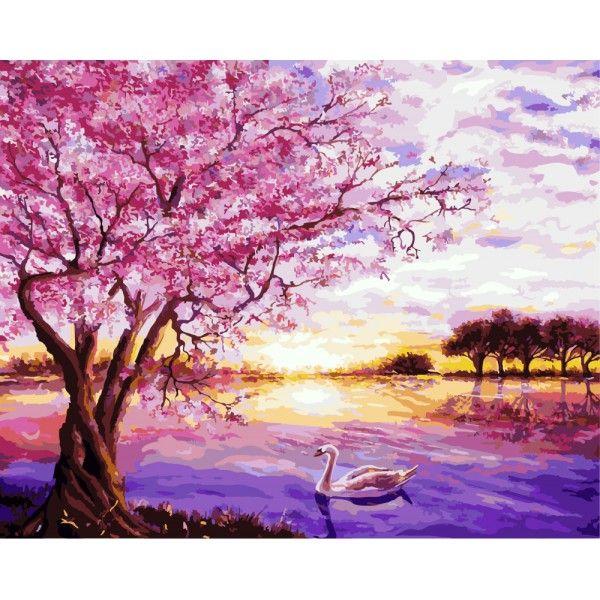 Картина по номерам Закат в розовых тонах