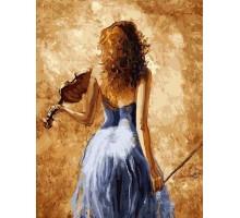 Картина по номерам Девушка со скрипкой