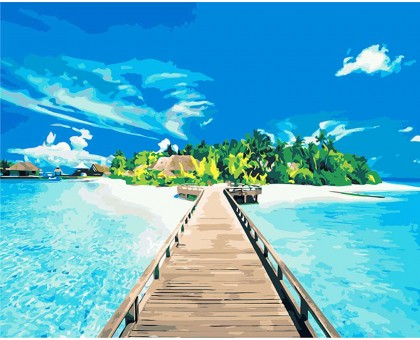Картина по номерам Лазурный пляж