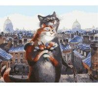 Картина по номерам Коты романтики (БЕЗ КОРОБКИ)