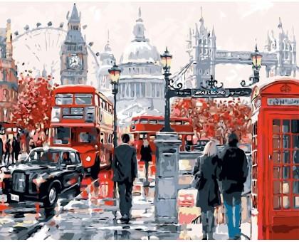 Раскраска по номерам Очарование Лондона