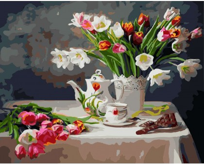 Картина по номерам Весенний натюрморт