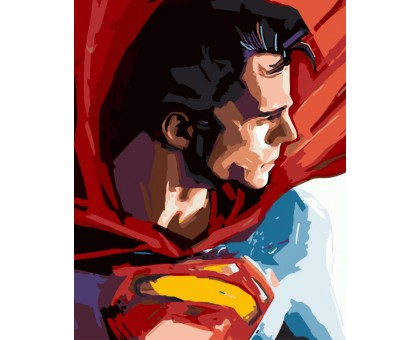 Картина по номерам Супермен
