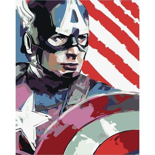 Картина по номерам Капитан Америка