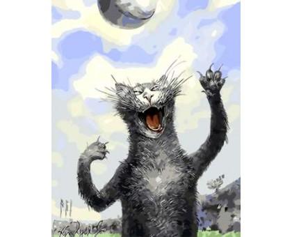 Картина по номерам Кошачьи игры