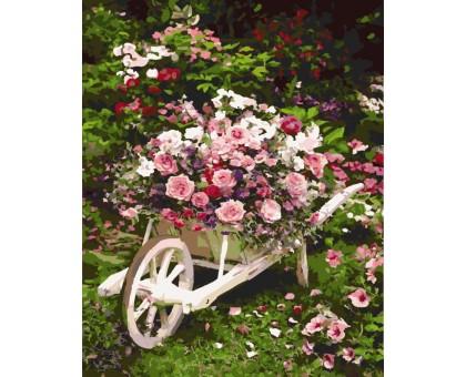 Картина по номерам Розовый куст