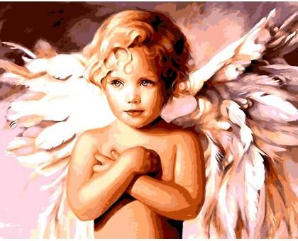 Раскраска по номерам Милый ангел