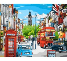 Картина по номерам Будни Лондона