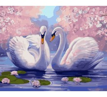 Картина по номерам Лебединая нежность
