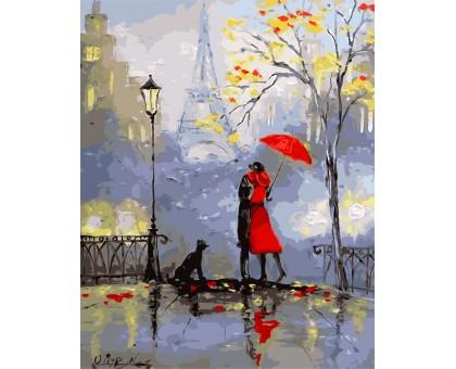 Картина по номерам Романтика Парижа