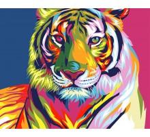 Картина по номерам Тигр поп-арт