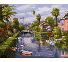Картина по номерам На берегу канала