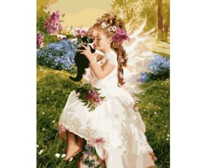 Картина по номерам Ангел с котенком