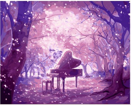 Картина по номерам Волшебство музыки (Без коробки)