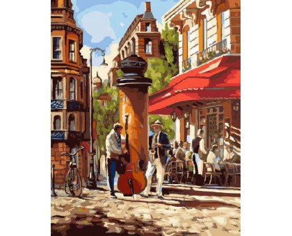 Картина по номерам Уличные музыканты