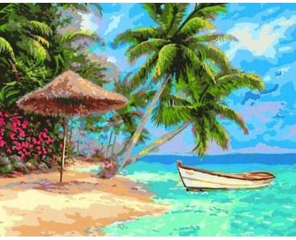 Картина по номерам Тропический пляж