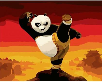Картина по номерам Панда кунг-фу