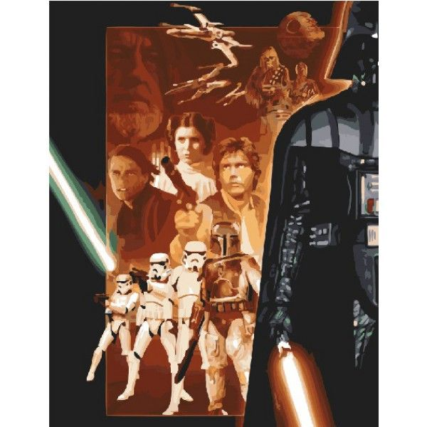 Картина по номерам Звездные войны
