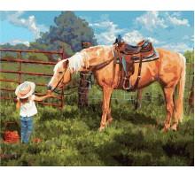 Картина по номерам Любимая лошадка