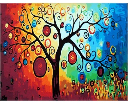 Картина по номерам Абстракция Дерево богатства
