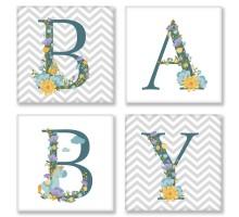Картина по номерам Квартет Слово BABY Скандинавия