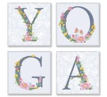 Картина по номерам Квартет Слово YOGA Прованс