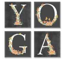 Картина по номерам Квартет Слово YOGA Лофт