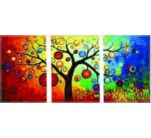 Картина по номерам Триптих. Денежное дерево