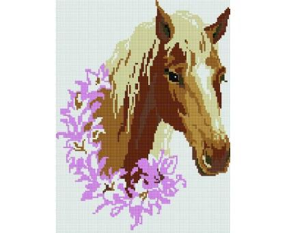 Картина по номерам Конь в цветах