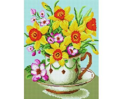 Картина по номерам Цветы в чашке