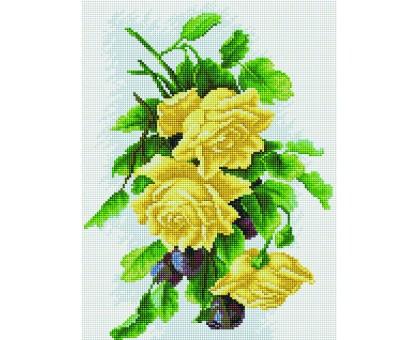 Картина по номерам Золотые розы