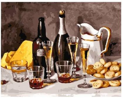 Картина по номерам Вино з фруктами