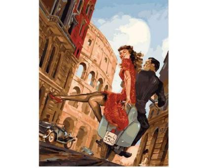 Картина по номерам Побег влюбленных в риме