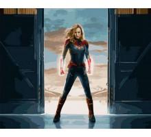 Картина по номерам Капитан Марвел