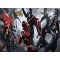 Картина по номерам Мстители в бою