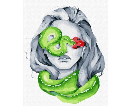 Картина по номерам Опасные питомцы: змея