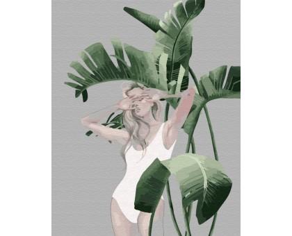 Картина по номерам Листья Амазонки