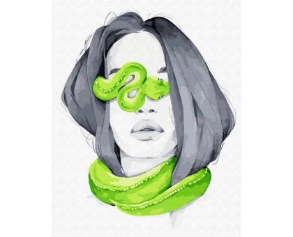 Картина по номерам Опасные питомцы: змея мамба
