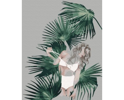 Картина по номерам Листья Мальдив