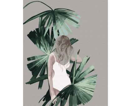 Картина по номерам Листья Багам