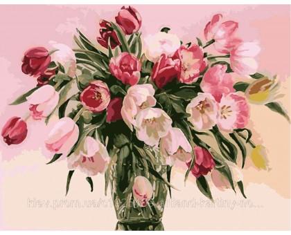 Раскраска по номерам Тюльпаны в вазе