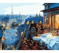 Картина по номерам Парижский балкон