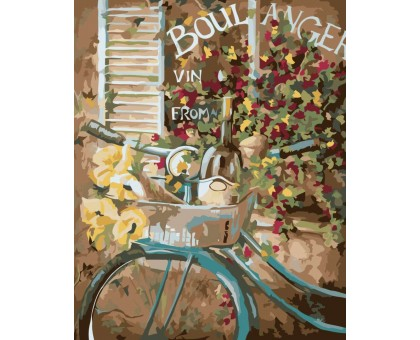 Картина по номерам Французский велосипед