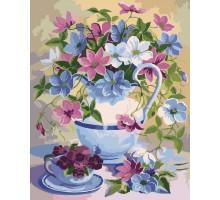 Картина по номерам Букет в лиловых тонах