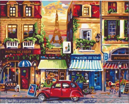 Картина по номерам Улочки Парижа